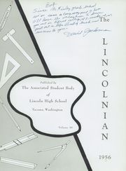 Page 5, 1956 Edition, Lincoln High School - Lincolnian Yearbook (Tacoma, WA) online yearbook collection