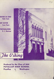 Page 3, 1941 Edition, Puyallup High School - Viking Yearbook (Puyallup, WA) online yearbook collection