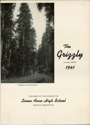 Page 5, 1941 Edition, Queen Anne High School - Grizzly Yearbook (Seattle, WA) online yearbook collection