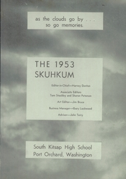Page 5, 1953 Edition, South Kitsap High School - Skuhkum Yearbook (Port Orchard, WA) online yearbook collection