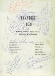 Page 5, 1959 Edition, Auburn High School - Invader Yearbook (Auburn, WA) online yearbook collection