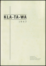 Page 5, 1947 Edition, Snohomish High School - Kla Ta Wa Yearbook (Snohomish, WA) online yearbook collection