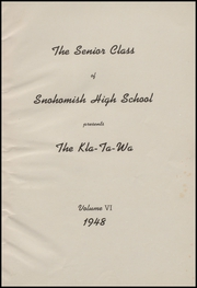 Page 5, 1948 Edition, Snohomish High School - Kla Ta Wa Yearbook (Snohomish, WA) online yearbook collection