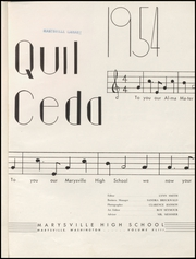 Page 5, 1954 Edition, Marysville High School - Quil Ceda Yearbook (Marysville, WA) online yearbook collection