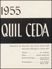 Page 5, 1955 Edition, Marysville High School - Quil Ceda Yearbook (Marysville, WA) online yearbook collection