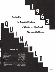 Page 5, 1963 Edition, Weatherwax High School - Quinault Yearbook (Aberdeen, WA) online yearbook collection