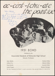 Page 5, 1951 Edition, Edmonds High School - Echo Yearbook (Edmonds, WA) online yearbook collection