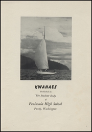 Page 5, 1948 Edition, Peninsula High School - Kwahaes Yearbook (Gig Harbor, WA) online yearbook collection