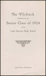 Page 7, 1924 Edition, Lake Stevens High School - Pilchuck Yearbook (Lake Stevens, WA) online yearbook collection
