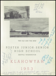 Page 5, 1953 Edition, Foster High School - Klahowyah Yearbook (Seattle, WA) online yearbook collection