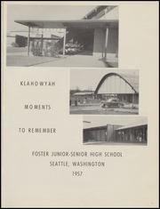 Page 5, 1957 Edition, Foster High School - Klahowyah Yearbook (Seattle, WA) online yearbook collection