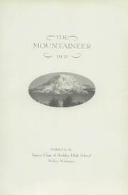 Page 7, 1931 Edition, White River High School - Yearbook (Buckley, WA) online yearbook collection