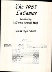 Page 5, 1965 Edition, Camas High School - La Camas Yearbook (Camas, WA) online yearbook collection