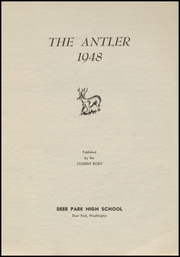 Page 5, 1948 Edition, Deer Park High School - Antler Yearbook (Deer Park, WA) online yearbook collection