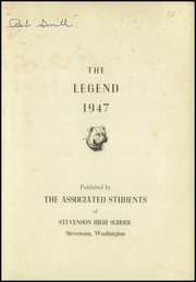 Page 3, 1947 Edition, Stevenson High School - Legend Yearbook (Stevenson, WA) online yearbook collection