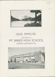 Page 3, 1935 Edition, Mount Baker High School - Mountaineer Yearbook (Deming, WA) online yearbook collection