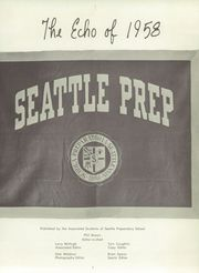 Page 5, 1958 Edition, Seattle Preparatory School - Echo Yearbook (Seattle, WA) online yearbook collection