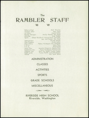 Page 7, 1949 Edition, Riverside High School - Rambler Yearbook (Chattaroy, WA) online yearbook collection