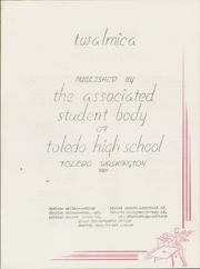 Page 5, 1949 Edition, Toledo High School - Twalmica Yearbook (Toledo, WA) online yearbook collection