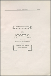 Page 9, 1929 Edition, Granger High School - Sacajawea Yearbook (Granger, WA) online yearbook collection