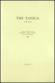 Page 7, 1932 Edition, Concrete High School - Yanica Yearbook (Concrete, WA) online yearbook collection