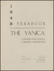Page 7, 1948 Edition, Concrete High School - Yanica Yearbook (Concrete, WA) online yearbook collection
