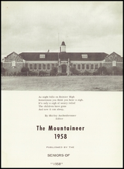 Page 7, 1958 Edition, Rainier High School - Mountaineer Yearbook (Rainier, WA) online yearbook collection