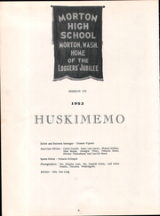 Page 6, 1953 Edition, Morton High School - Huskimemo Yearbook (Morton, WA) online yearbook collection