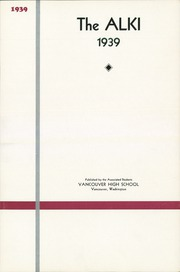 Page 5, 1939 Edition, Vancouver High School - Alki Yearbook (Vancouver, WA) online yearbook collection