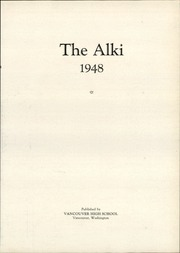 Page 7, 1948 Edition, Vancouver High School - Alki Yearbook (Vancouver, WA) online yearbook collection