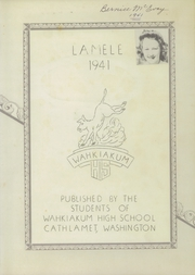 Page 3, 1941 Edition, Wahkiakum High School - Lamele Yearbook (Cathlamet, WA) online yearbook collection