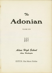 Page 7, 1953 Edition, Adna High School - Adonian Yearbook (Adna, WA) online yearbook collection