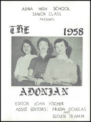 Page 7, 1958 Edition, Adna High School - Adonian Yearbook (Adna, WA) online yearbook collection