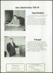 Page 12, 1959 Edition, Adna High School - Adonian Yearbook (Adna, WA) online yearbook collection