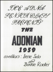 Page 7, 1959 Edition, Adna High School - Adonian Yearbook (Adna, WA) online yearbook collection