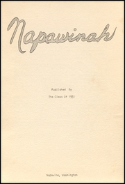 Page 5, 1951 Edition, Napavine High School - Napawinah Yearbook (Napavine, WA) online yearbook collection