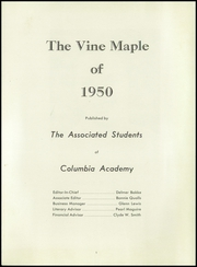 Page 5, 1950 Edition, Columbia Adventist Academy - Vine Maple Yearbook (Battle Ground, WA) online yearbook collection