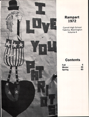 Page 5, 1972 Edition, Carroll High School - Rampart Yearbook (Yakima, WA) online yearbook collection