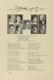 Page 8, 1928 Edition, Oakville High School - Tillicum Yearbook (Oakville, WA) online yearbook collection