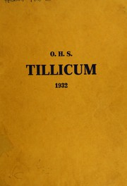 Page 1, 1932 Edition, Oakville High School - Tillicum Yearbook (Oakville, WA) online yearbook collection