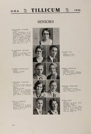Page 10, 1932 Edition, Oakville High School - Tillicum Yearbook (Oakville, WA) online yearbook collection