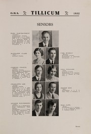 Page 11, 1932 Edition, Oakville High School - Tillicum Yearbook (Oakville, WA) online yearbook collection