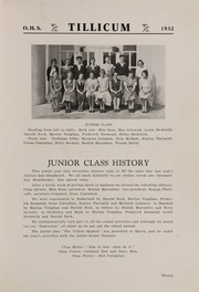 Page 15, 1932 Edition, Oakville High School - Tillicum Yearbook (Oakville, WA) online yearbook collection