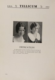 Page 6, 1932 Edition, Oakville High School - Tillicum Yearbook (Oakville, WA) online yearbook collection