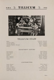 Page 7, 1932 Edition, Oakville High School - Tillicum Yearbook (Oakville, WA) online yearbook collection
