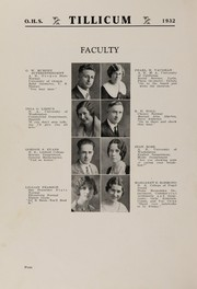 Page 8, 1932 Edition, Oakville High School - Tillicum Yearbook (Oakville, WA) online yearbook collection