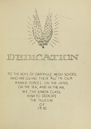 Page 5, 1942 Edition, Oakville High School - Tillicum Yearbook (Oakville, WA) online yearbook collection