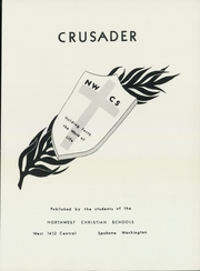 Page 7, 1957 Edition, Northwest Christian High School - Crusader Yearbook (Spokane, WA) online yearbook collection
