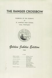 Page 5, 1945 Edition, St Martins High School - Samahi Yearbook (Lacey, WA) online yearbook collection