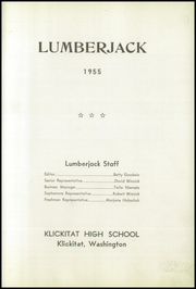 Page 5, 1955 Edition, Klickitat High School - Lumberjack Yearbook (Klickitat, WA) online yearbook collection